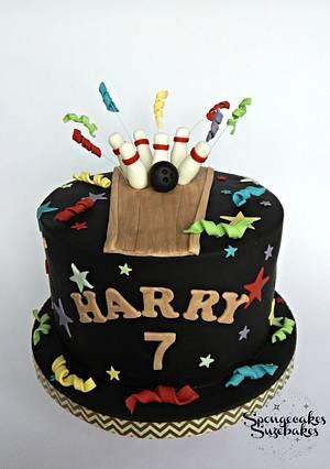 Bowling Theme Birthday Cake - Cake by Spongecakes Suzebakes