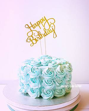 Whipped cream cake  - Cake by Shorna's Cake Corner