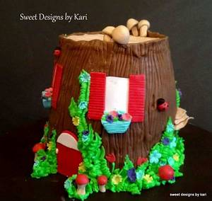 Fairy House Cake - Cake by Sweet Designs by Kari