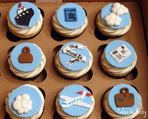 Travel Themed Cupcakes - Cake by Becky Pendergraft