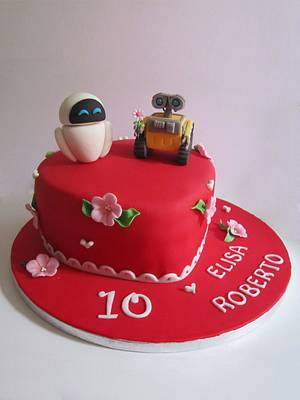 Wall-e and Eve - Cake by dolcefede