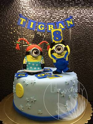 KEEP CALM AND LOVE MINIONS!:) - Cake by Lily Vanilly