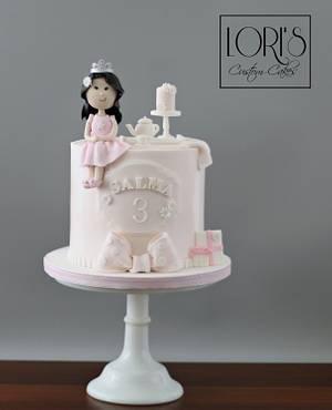 Tea Party with miniature cake  - Cake by Lori Mahoney (Lori's Custom Cakes)