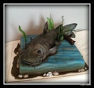 Catfish Birthday Cake - Cake by Angel Rushing