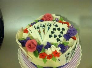 Bridge player's perfect hand - Cake by Karen Seeley