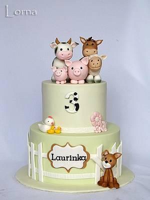 Farm cake - Cake by Lorna