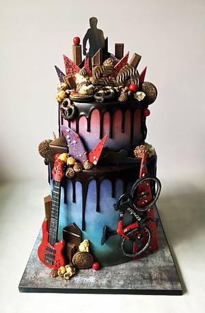 Rad drip! - Cake by Dream Cakes by Robyn