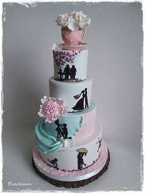 Storytelling wedding cake - Cake by Zuzana Kmecova