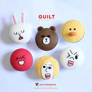 Line Cupcakes - Cake by Guilt Desserts