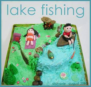 Lake Fishing - Cake by Diana