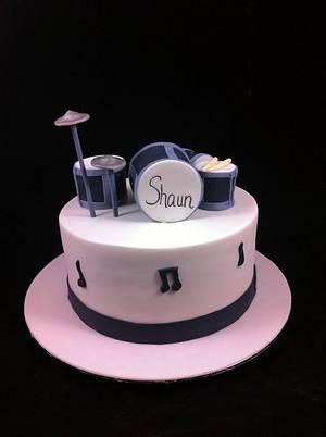 Drum Kit Cake - Cake by Lydia Evans