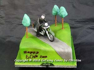 Motorbike (Royal Enfield) - Cake by Christine Ticehurst