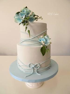 Baby blue wedding  - Cake by MOLI Cakes