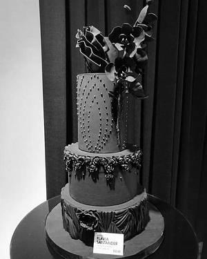 Wedding black  - Cake by Flavia
