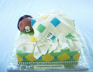 Gift from God Baby Shower Cake - Cake by DeliciousDeliveries