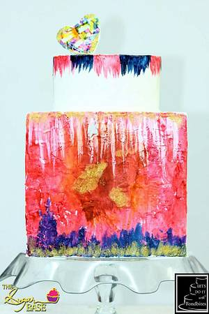 An Abstract Fantasy - Cake by Snehithi Jambulingam