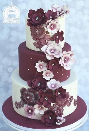 Pretty in Burgundy! - Cake by Jean A. Schapowal