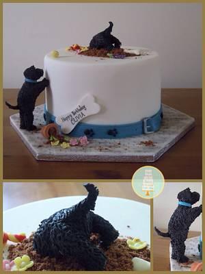 Mischievous Puppy Cake - Cake by Sugar & Spice Cake Shop