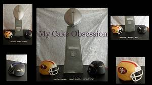 Super Bowl cake - Cake by My Cake Obsession