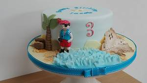 Childs Pirate Cake - Cake by The Old Manor House Bakery - Lisa Kirk