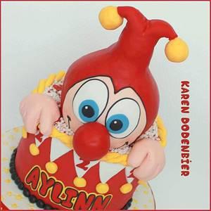 Jokie the clown - Cake by Karen Dodenbier