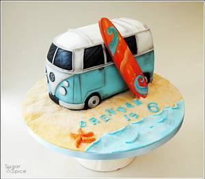 VW Campervan Cake ... Baking A Smile for Brendan x - Cake by Sugargourmande Lou