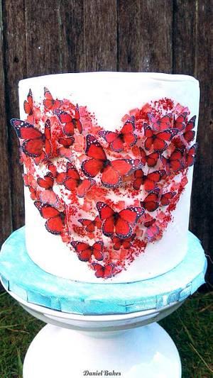 Butterfly Heart - Cake by Daniel Guiriba