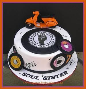 Northern SOUL Sister - Cake by Mel_SugarandSpiceCakes