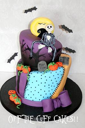 Nightmare Before Christmas!  - Cake by OfF ThE CuFf CaKeS!!