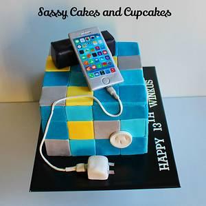 iPhone 6 Birthday Cake - Cake by Sassy Cakes and Cupcakes (Anna)