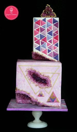 The enigmatic amethyst - PDCA CAKER BUDDIES COLLABORATION - Cake by TheSugarCanvas