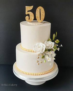 50th birthday cake!! - Cake by Bella's Cakes