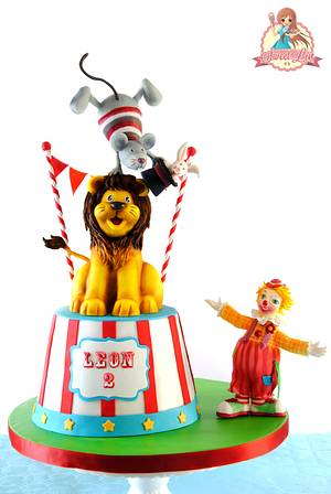 Leon's Circus Birthday Party - Cake by SweetLin
