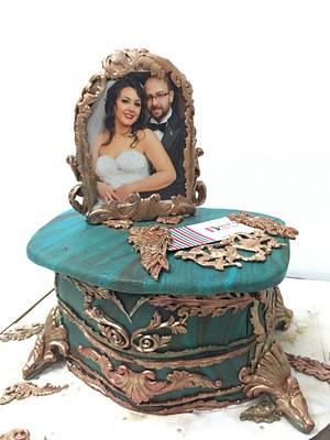 Anniversary cake - Cake by Dinadiab