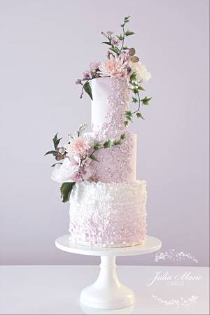 Pretty in Pink Wedding Cake - Cake by Julia Marie Cakes
