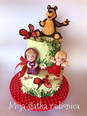 Masha and bear cake - Cake by Branka Vukcevic