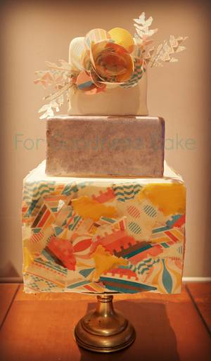 decoupage cake - Cake by For Goodness Cake