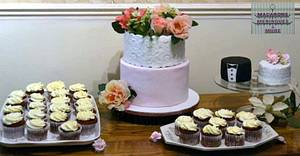 Wedding Dessert Table  - Cake by RupalsCakes (MACARONS MERINGUES &MORE )