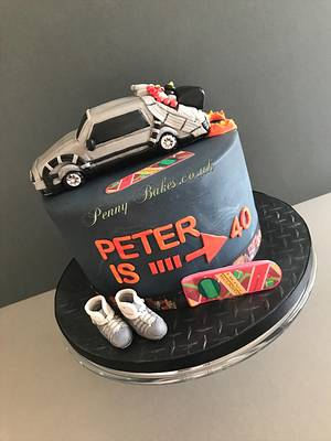 Back to the future cake - Cake by Penny Sue