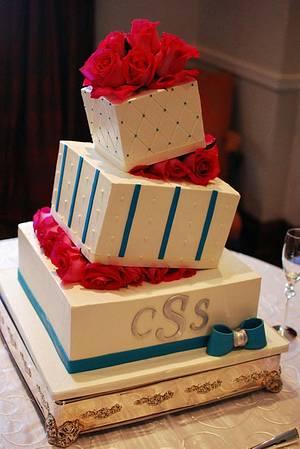 Wonky Wedge Wedding Cake - Cake by Jenniffer White