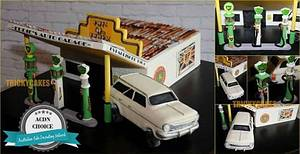 BP garage and Holden - Cake by Trickycakes