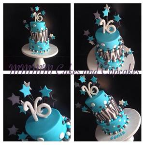 Sweet 16! - Cake by Mmmm cakes and cupcakes