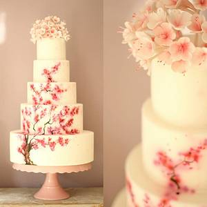 Cherry Blossom Wedding cake - Cake by Sugar Spice