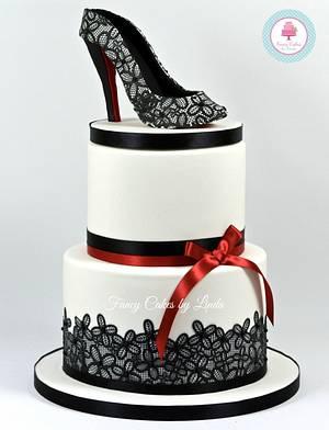 Shoe Cake - Shoe Design Inspired by Christian Louboutin - Cake by Ceri Badham