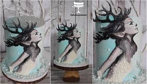 Reindeer Princes winter wonderland cake - Cake by Sylwia