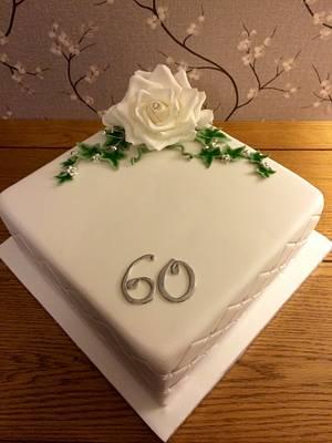 Diamond anniversary  - Cake by Daisychain's Cakes