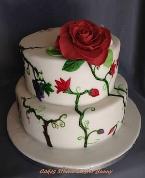 Rose cake - Cake by Irina Vakhromkina