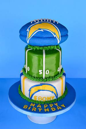 San Diego Chargers - Cake by Sweet Creations by Sophie