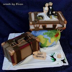 Around the world - wedding cake - Cake by Eliza
