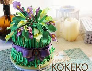 Calla´s Bouquet Cake - Cake by SweetKOKEKO by Arantxa